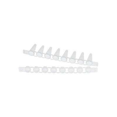 Tiras de 8 tubos y tapas PCR Eppendorf, 0.1 mL, tapa plana -120 unidades