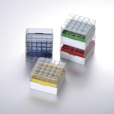 Criocaja CryoKING Biologix, policarbonato, 3,75 in, para viales de 5.0ml, -196 a 121 C, 81 posiciones, 132x132x95mm - 20 unidades