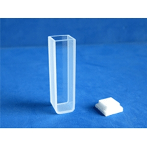 Cubeta de vidrio para fluorometría BioBasic, 10mm 3.5ml, dimensiones 12x12x45mm