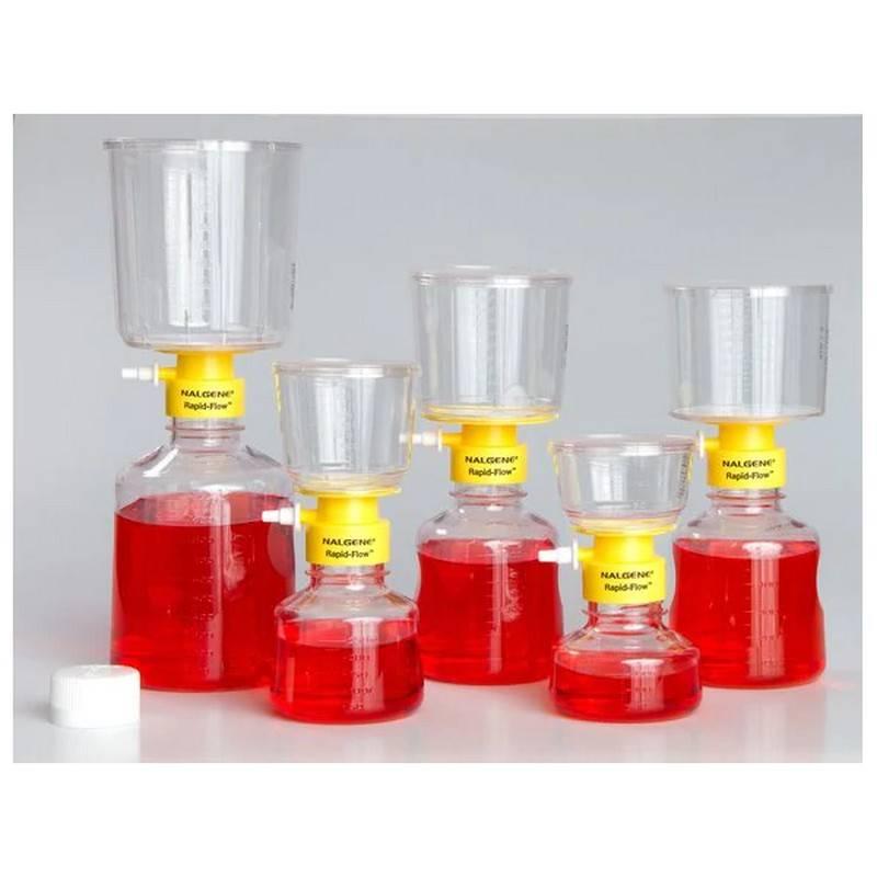 Unidades de filtración Nalgene, Rapid-Flow, desechables, estériles, membrana de Acetato de Celulosa (SFCA), poro 0.2 ul - 12 unidades