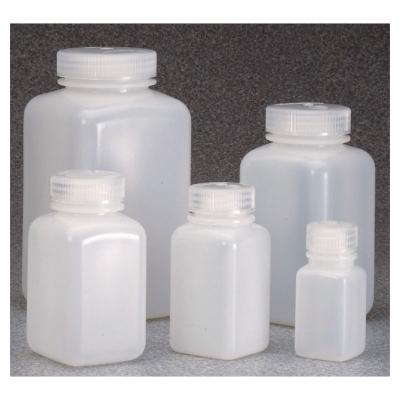 Botella de boca ancha Nalgene, cuadrada, polietileno de alta densidad HDPE
