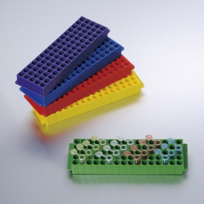 Gradilla para 80 microtubos 1.5-2.0ml Biologix, PP, autoclavable -1 unidad
