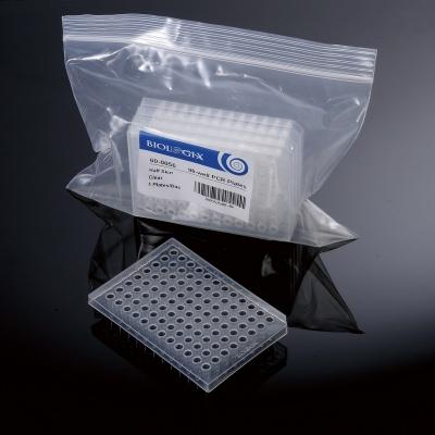 Placa para PCR de 96 well Biologix, Half-Skirted, libre de ARNasa y ADNasa - 25 unidades