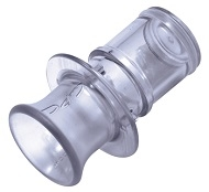 Class VI Polycarbonate Coupling Body Plug with Class VI Silicone O-Ring - Bag of 25