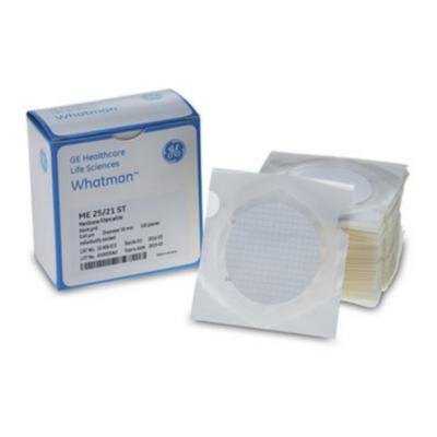 Membrana de Ésteres Mezclados de Celulosa ME25/21 ST Whatman de Cytiva. Cuadriculado 3.1 mm, estéril, poro 0.45 um, diámetro 47 mm - 100 unidades