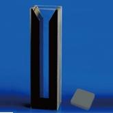 Cubeta de Cuarzo BioBasic, paredes negras, tapa, paso de luz 10 mm, ancho interno 4 mm, 1.4 ml - 1 unidad