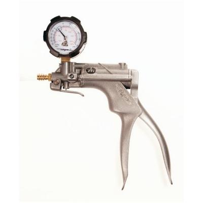 Bomba manual de vacío Nalgene, reparables con medidor de vacío, cuerpo de aleacion de zinc