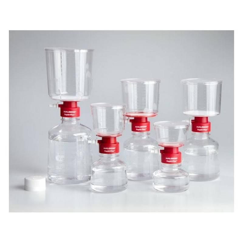 Unidad de Filtración Nalgene, Rapid-Flow, desechable, estéril, membrana Nylon, poro 0.45 um - 12 unidades