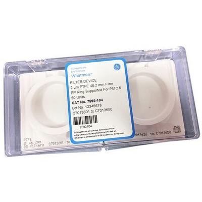 Filtros de Membrana PM2.5 PTFE Whatman de Cytiva. Con aro de soporte, numerado, diámetro 46.2 mm - 50 unidades (7592-104)