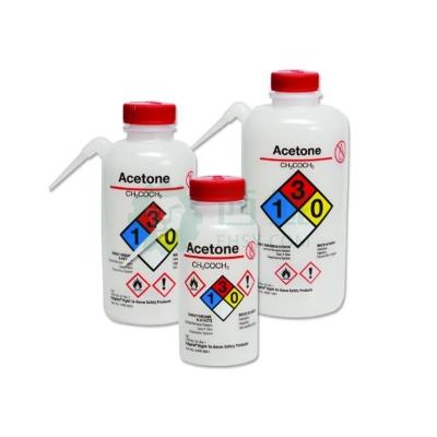 Piseta Nalgene de seguridad Unitary con etiqueta derecho a saber polietileno de baja densidad LDPE