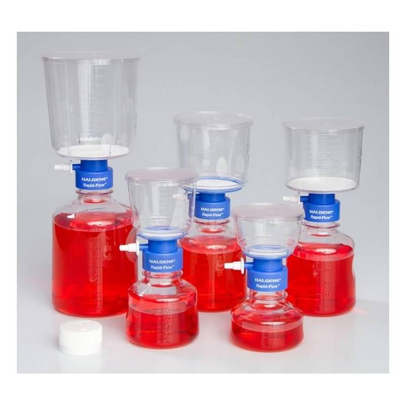 Unidad de Filtración Nalgene, Rapid-Flow, desechable, estéril, membrana Poliétersulfona PES, poro 0.45 um - 12 unidades