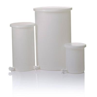 Tanque cilíndrico liviano con tapa y canilla Nalgene, polietileno de alta densidad HDPE