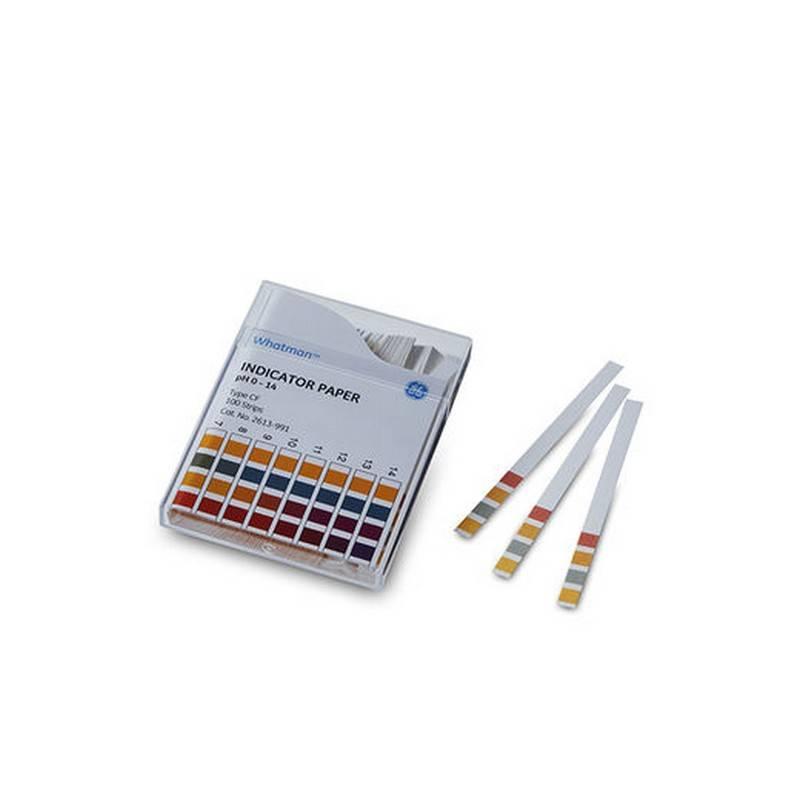 Papel indicador de pH Whatman GE. Rango 0 a 14 - 200 tiras (10360005)