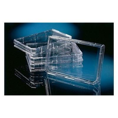 Bandeja OmniTray Nunc, con tapa, sin tratar, estéril, 86 x 128 mm - 10 unidades
