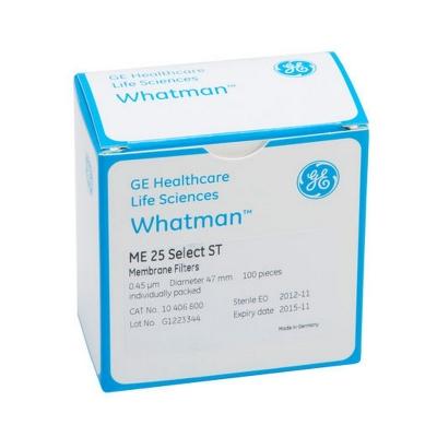 Membrana de Ésteres Mezclados de Celulosa ME25 ST Whatman de Cytiva. Liso, estéril, poro 0.45 um, diámetro 47 mm - 100 unidades (10401670)