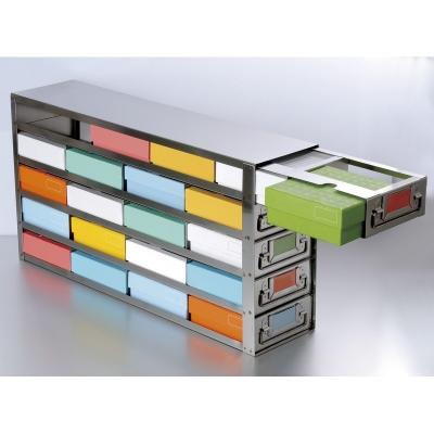 Rack para Freezer con Cajones Deslizantes Biologix, acceso lateral, acero inoxidable