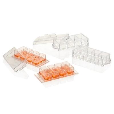 Cámara de cultivo sobre cubreobjetos Nunc, Lab-Tek, borosilicato, estéril, 8 pocillos - 8 unidades