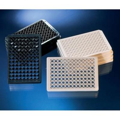 Multiplaca de Fondo Óptico Nunc, 96 pocillos, base de cubreobjetos, sin tratamiento, no estéril, sin tapa, negra, capacidad pocillo 400 ul - 5 unidades