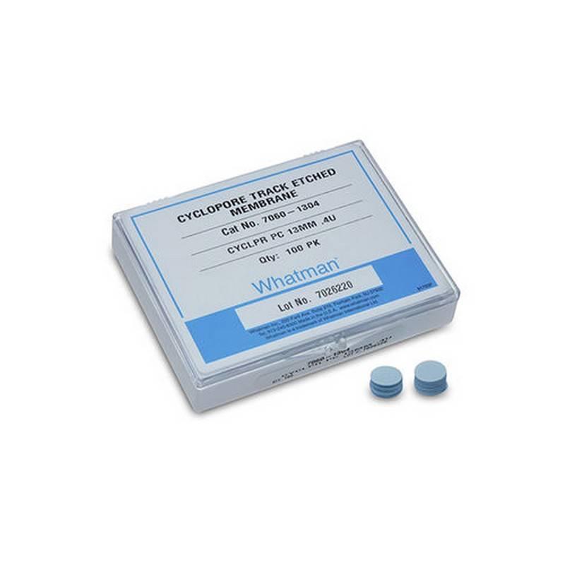 Membrana Cyclopore de Policarbonato Whatman GE. Poro 0.2 um, diámetro 25 mm - 100 unidades (7060-2502)