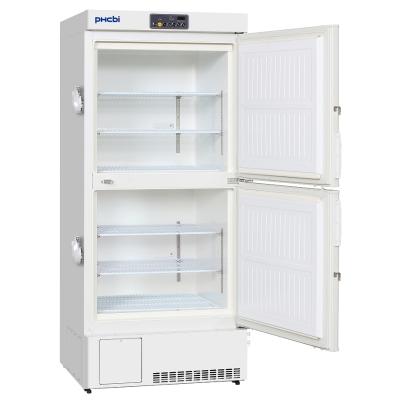 Freezer Biomédico Vertical Phcbi, temperatura mínima -40C, 470L, 6 estantes, doble puerta, 2 cámaras y compresores independientes, refrigerantes naturale
