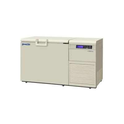 Freezer Criogénico Phcbi, temperatura mínima -150°C, capacidad 231L, aislación de paneles de vacío, con sistema de Backup de N2, interior de aluminio, Se